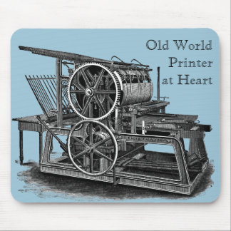 Old Fashioned Printing Press Mouse Pad