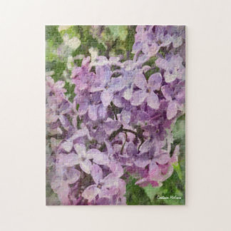 Old Fashioned Purple Lilac Photo Puzzle