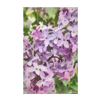Old Fashioned Purple Lilac Wrapped Canvas
