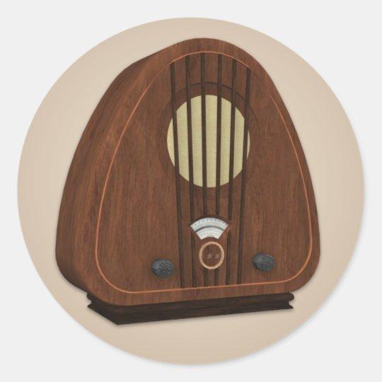 Old Fashioned Radio Sticker