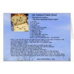 Old Fashioned Raisin Bread Recipe Card