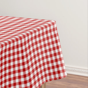 Old Fashioned Red And White Gingham Tablecloth
