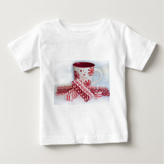 Old Fashioned Red and White Ribbon Candy With Mug Baby T-Shirt