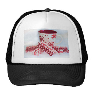 Old Fashioned Red and White Ribbon Candy With Mug Trucker Hat