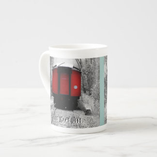 Old Fashioned Red Steam Train Tea Cup