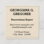 [ Thumbnail: Old Fashioned Renovations Expert Business Card ]