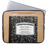Old Fashioned Retro Composition Book Laptop Computer Sleeves