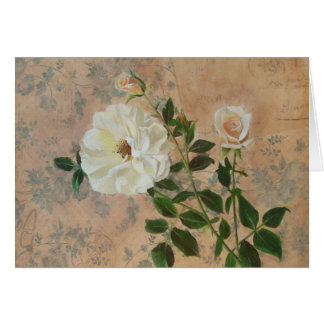 Old Fashioned Rose Card