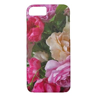 Old Fashioned Rose Garden Flowers iPhone 7 Case