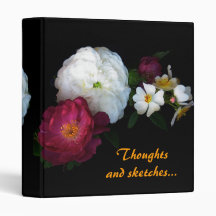 Old Fashioned Roses 3 Ring Binders