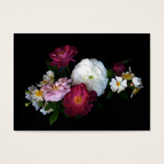 Old Fashioned Roses Atc Business Card at Zazzle