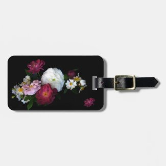 Old Fashioned Roses Bag Tag