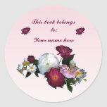 Old-Fashioned Roses Bookplate Stickers