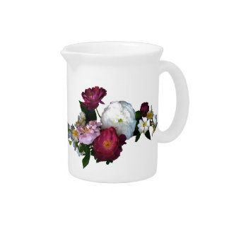 Old Fashioned Roses Drink Pitcher