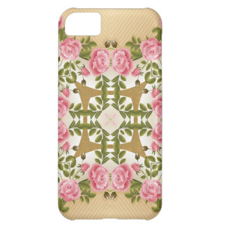 Old Fashioned Roses Golden Accents iPhone 5C Case