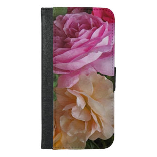 Old Fashioned Roses iPhone 6 Plus Wallet Case