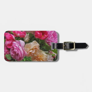 Old Fashioned Roses Luggage Tag