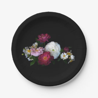 Old Fashioned Roses Paper Plates 7 Inch Paper Plate