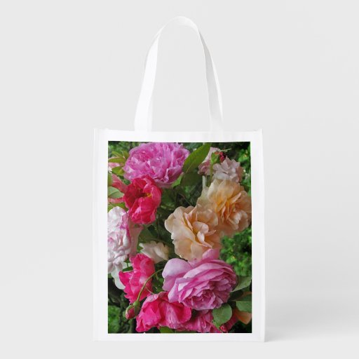 Old Fashioned Roses Grocery Bags