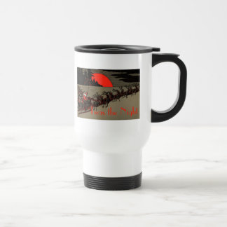 Old Fashioned Santa and Reindeer Sleigh Travel Mug