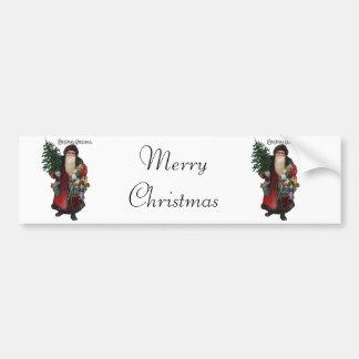 Old Fashioned Santa Claus Car Bumper Sticker