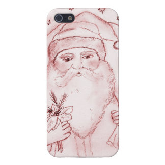 Old Fashioned Santa Claus in Red Case For iPhone SE/5/5s