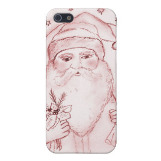 Old Fashioned Santa Claus in Red Cover For iPhone SE/5/5s