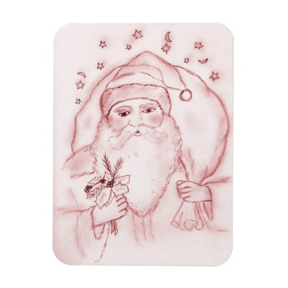 Old Fashioned Santa Claus in Red Magnet