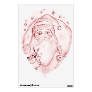 Old Fashioned Santa Claus in Red Wall Decal