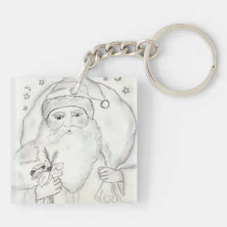 Old Fashioned Santa Claus Keychain