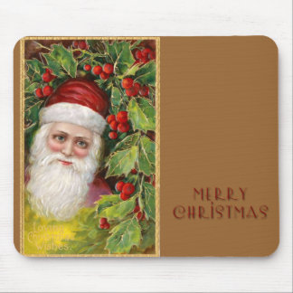 Old Fashioned Santa Claus Mouse Pad