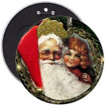 Old Fashioned Santa Claus Pin