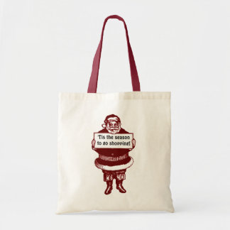 Old-Fashioned Santa Claus tote bags