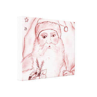 Old Fashioned Santa in Cranberry Canvas Print