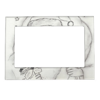 Old Fashioned Santa Magnetic Picture Frame