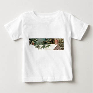 Old Fashioned Santa on Rooftop Baby T-Shirt