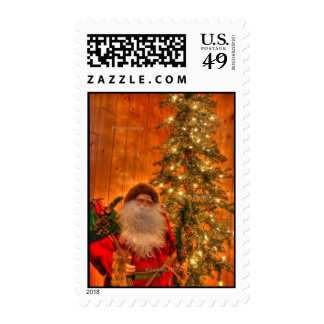 Old Fashioned Santa Stamps