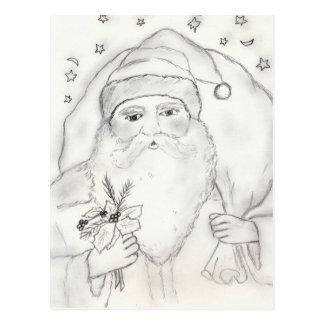 Old Fashioned Santa Postcard