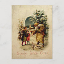 Old-Fashioned Santa Postcard