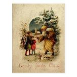 Old-Fashioned Santa Postcard