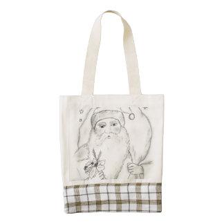Old Fashioned Santa Zazzle HEART Tote Bag