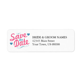 Old Fashioned Save The Date (Bubblegum Pink/Blue) Label
