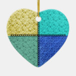Old-Fashioned Scrap Patchwork Heart Ornament