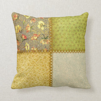 Old-Fashioned Scrap Patchwork Pillow
