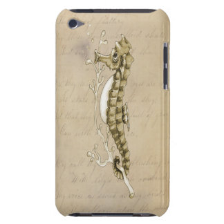 Old Fashioned Seahorse on Vintage Paper Background iPod Touch Case-Mate Case