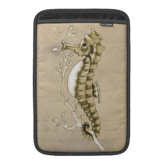 Old Fashioned Seahorse on Vintage Paper Background Sleeve For MacBook Air