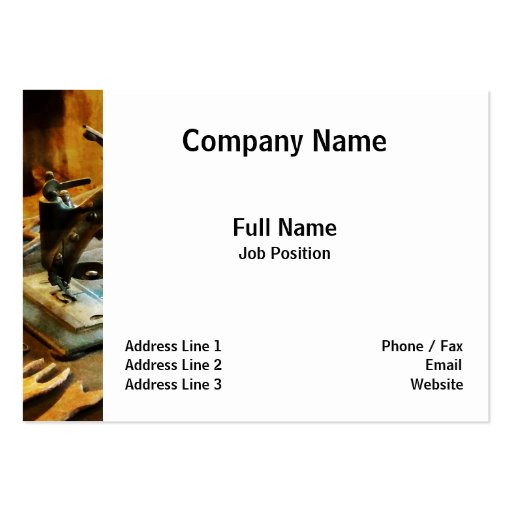 Old-Fashioned Sewing Machine Large Business Cards (Pack Of 100)