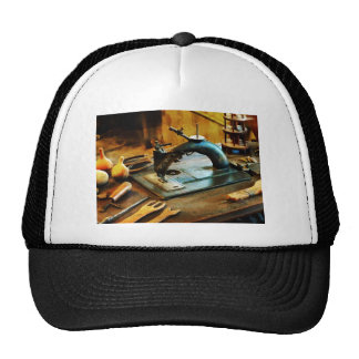 Old-Fashioned Sewing Machine Mesh Hat