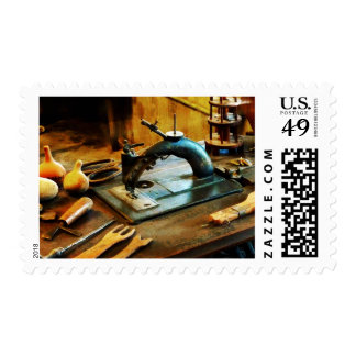 Old-Fashioned Sewing Machine Postage