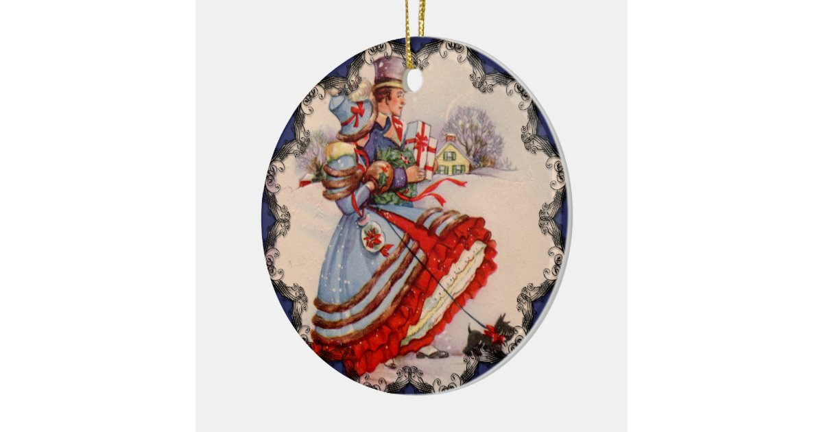Old Fashioned Shopping Christmas Ornament Zazzle